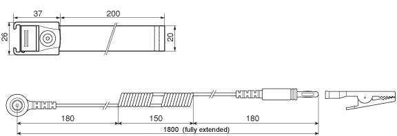 EPS-04 Anti-Static Wrist Strap Dimensions